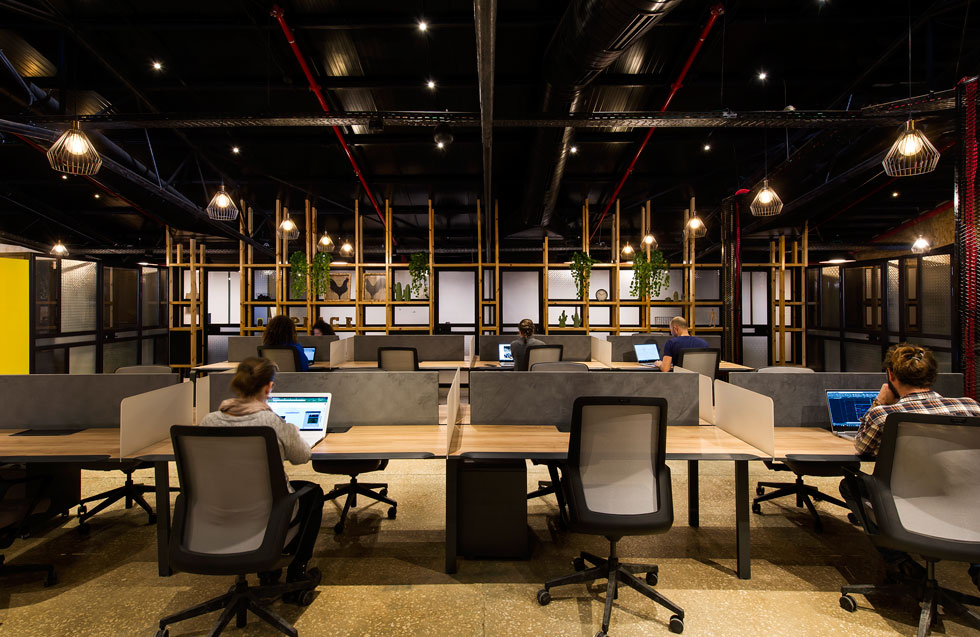 למעלה, תחת הגג, מרחב עבודה משותף ופתוח. כשבעה מיליון שקלים הושקעו בפרויקט (צילום: מושי גיטליס)