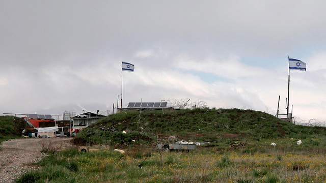 Israeli flags on the Golan Heights (Photo: AFP)