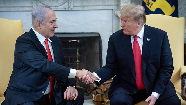 Benjamin Netanyahu and Donald Trump at the White House in March 2019 (Photo: AFP)