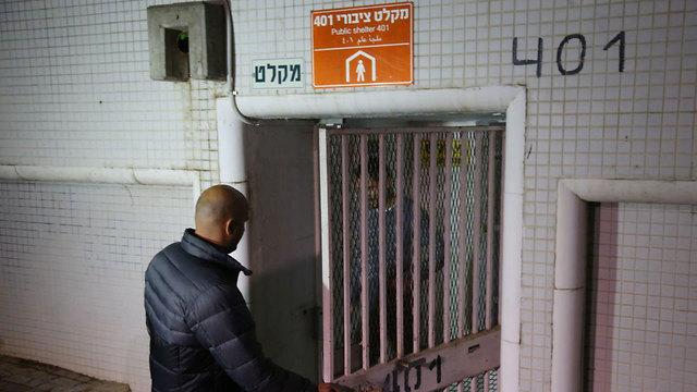 במסגרת ההסלמה בדרום, פתיחת מקלטים בתל אביב (צילום: מוטי קמחי)