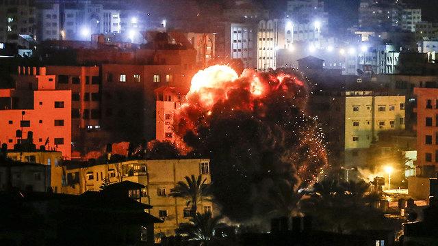 Удар ВВС ЦАХАЛа по Газе. Фото: AFP
