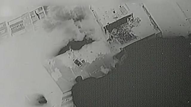 Footage showing Hamas buildings bombed