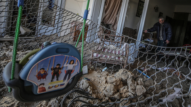 Devastation in Gaza after IAF strikes (Photo: EPA)