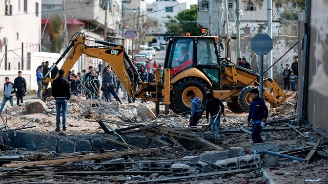 Devastation in Gaza after IAF strikes (Photo: AFP)