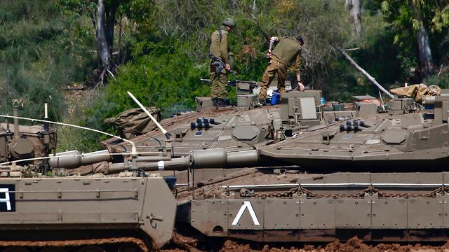 The IDF on the Gaza border (Photo: AP)