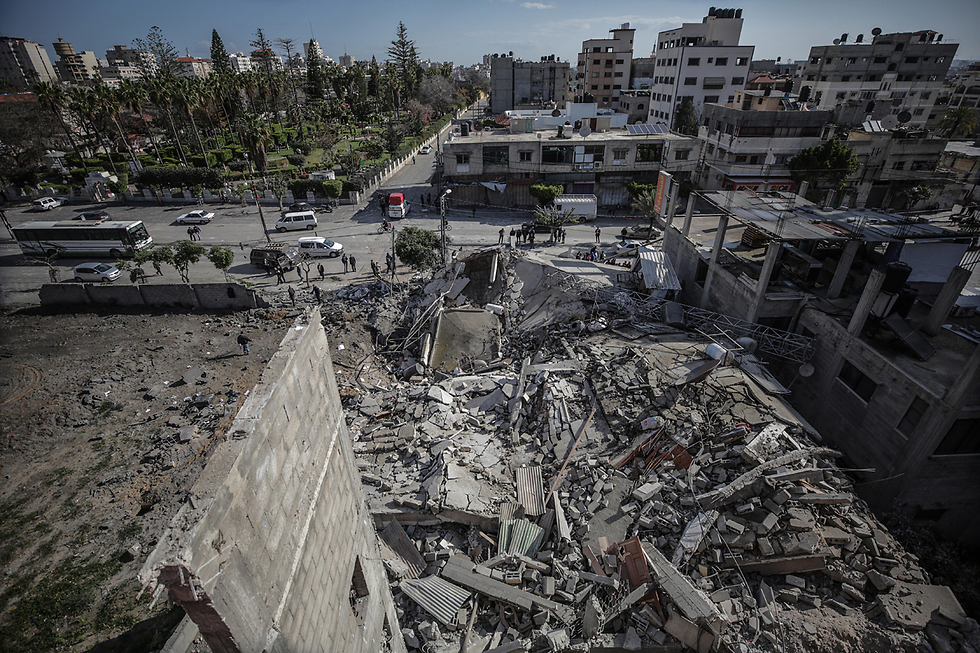 Destruction in the Gaza Strip following an IAF attack during the current clashes with Hamas (Photo: EPA)