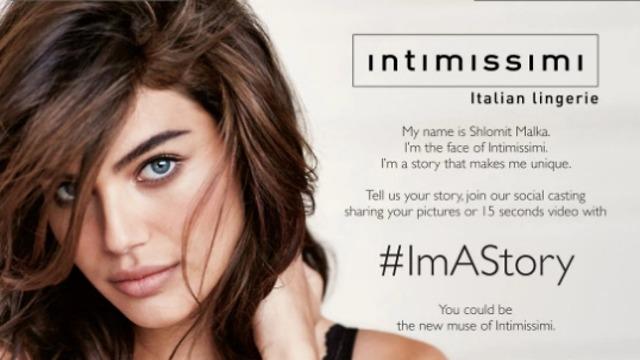Шломит Малка в рекламе бренда Intimissi. Фото: принскрин