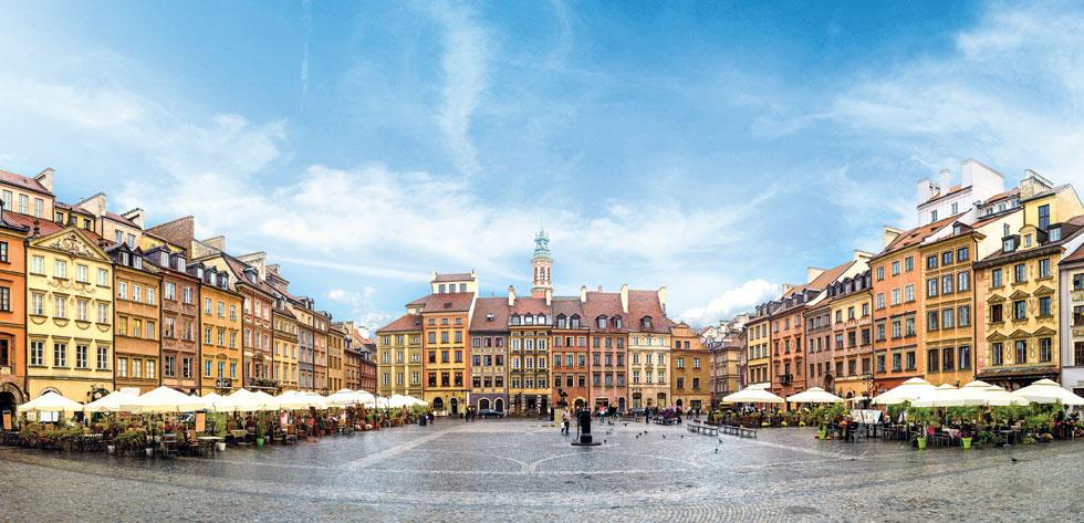 נבנתה מחדש אחרי המלחמה. ורשה, כיכר השוק (צילום: Shutterstock)