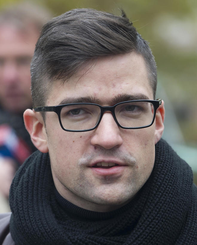 Martin Sellner, leader of the right-wing populist Identitarian movement of Austria  (Photo: AP)