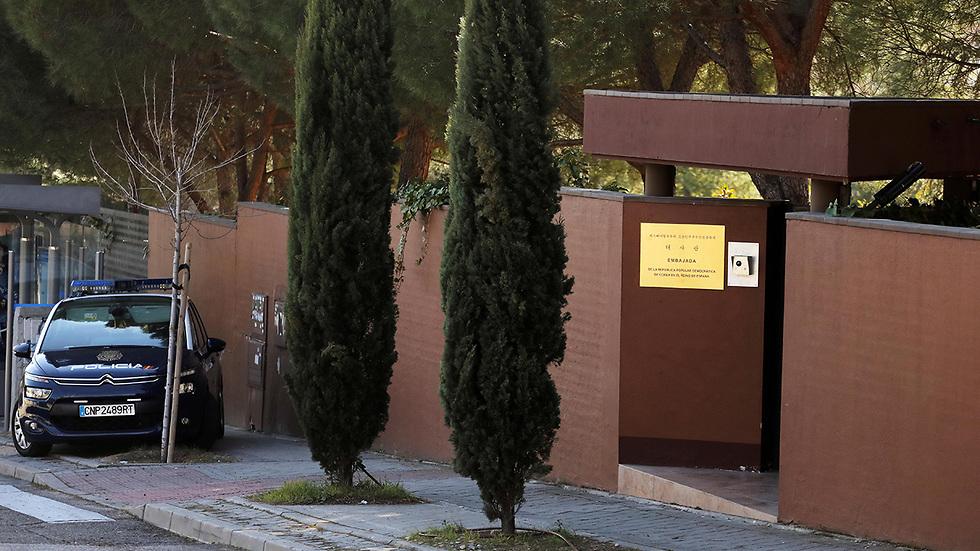 שגרירות צפון קוריאה ב מדריד ספרד (צילום: רויטרס)