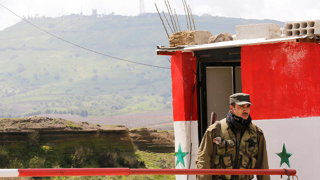 A Syria  military post in the Syrian Golan