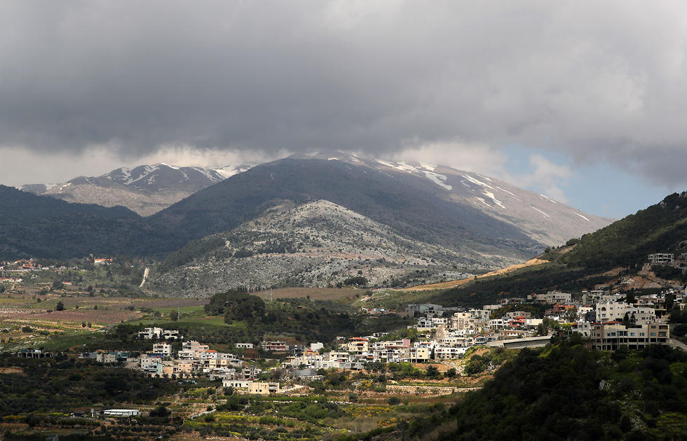 A general view shows the village of Ein Qiniyye in the Golan