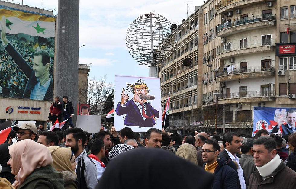 Syrians protest in the northern city of Aleppo
