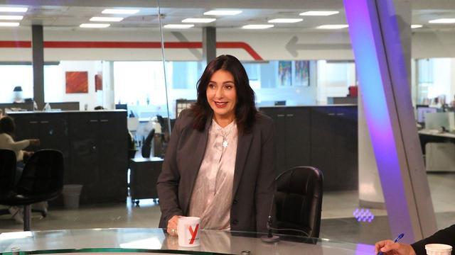 ריאיון מירי רגב אולפן ynet (צילום: מוטי קמחי)