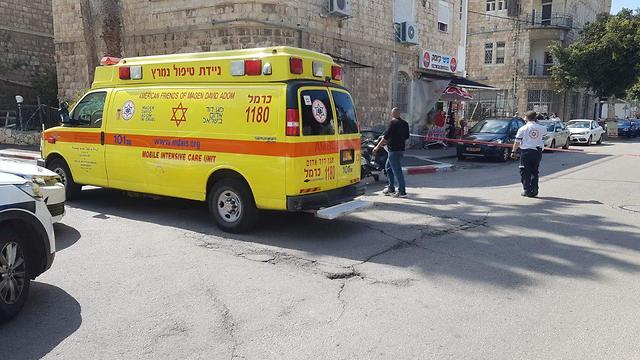 זירת האירוע בחיפה (צילום: תיעוד מבצעי מד