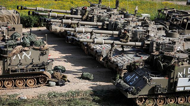 Israeli armor outside Gaza