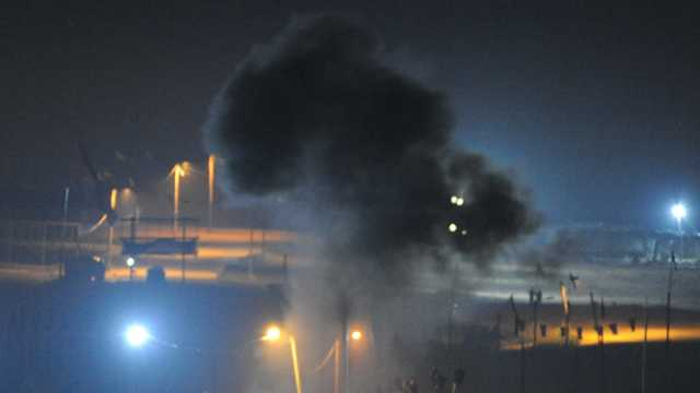 Ночные беспорядки на границе сектора Газы. Фото: Ави Роках