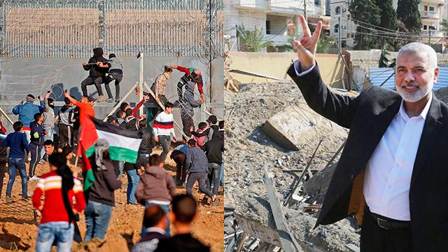 Хания и граница с Израилем. Фото: AFP