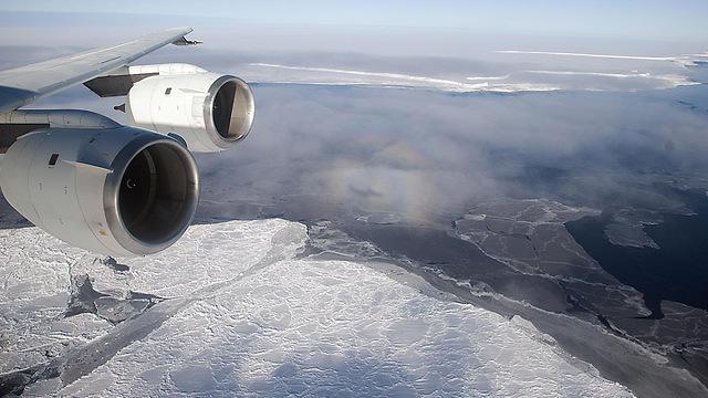 הקרחון מהאוויר, כפי שצולם ב-2010 (צילום: נאס