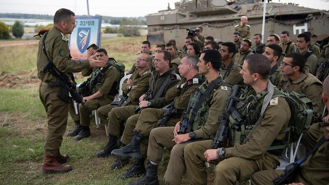IDF briefing on Gaza (Photo: IDF Spokesman)