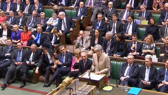 May in the British Parliament