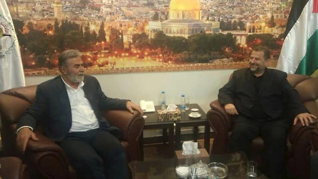Аль-Арури и Аль-Нахала на встрече в Бейруте