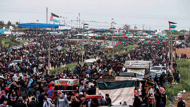 Mass gathering in Gaza