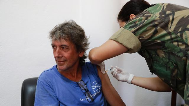ציקלון אפריקה מוזמביק העיר ביירה חיסון נגד כולרה  (צילום: EPA)