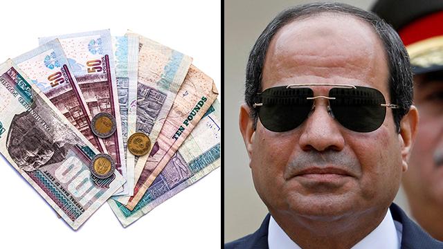 מצרים לירה מצרית כסף שכר מינימום (צילום: Shutterstock , EPA)