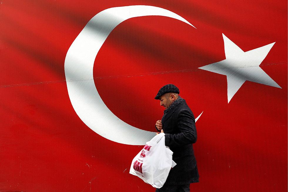 טורקיה בחירות רשויות מקומיות רג'פ טאיפ ארדואן (צילום: AP)