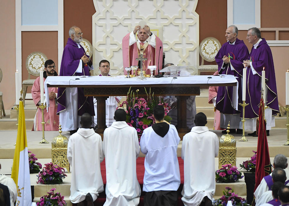 The Pope conducts Mass in Rabat