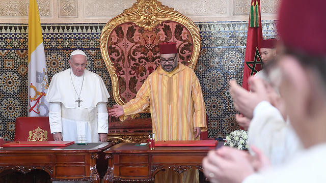 Pope Francis and Moroccan King Mohammed VI