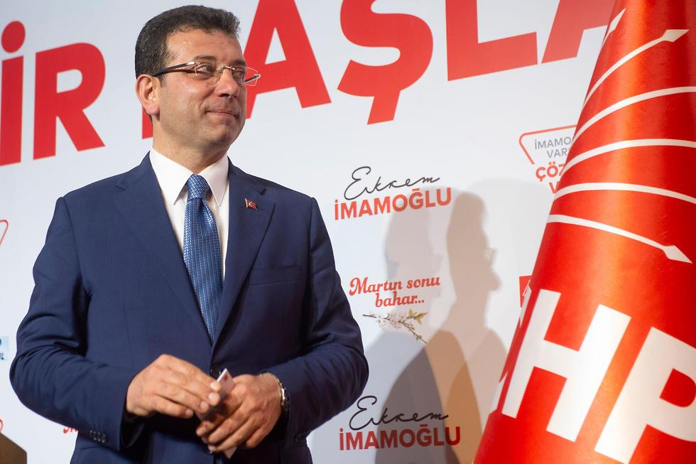 מועמד האופוזיציה באיסטנבול, אקרם אימאמולו (צילום: AFP)
