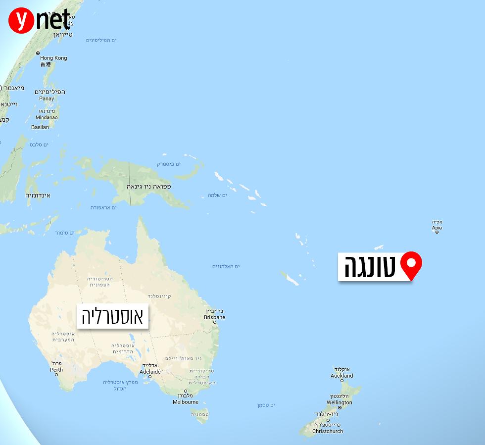 טונגה במפת העולם (GoogleMaps)