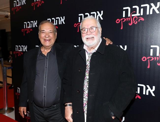 כאילו לא עברו 45 שנה. יהודה בארקן וזאב רווח מתאחדים (צילום: רפי דלויה)