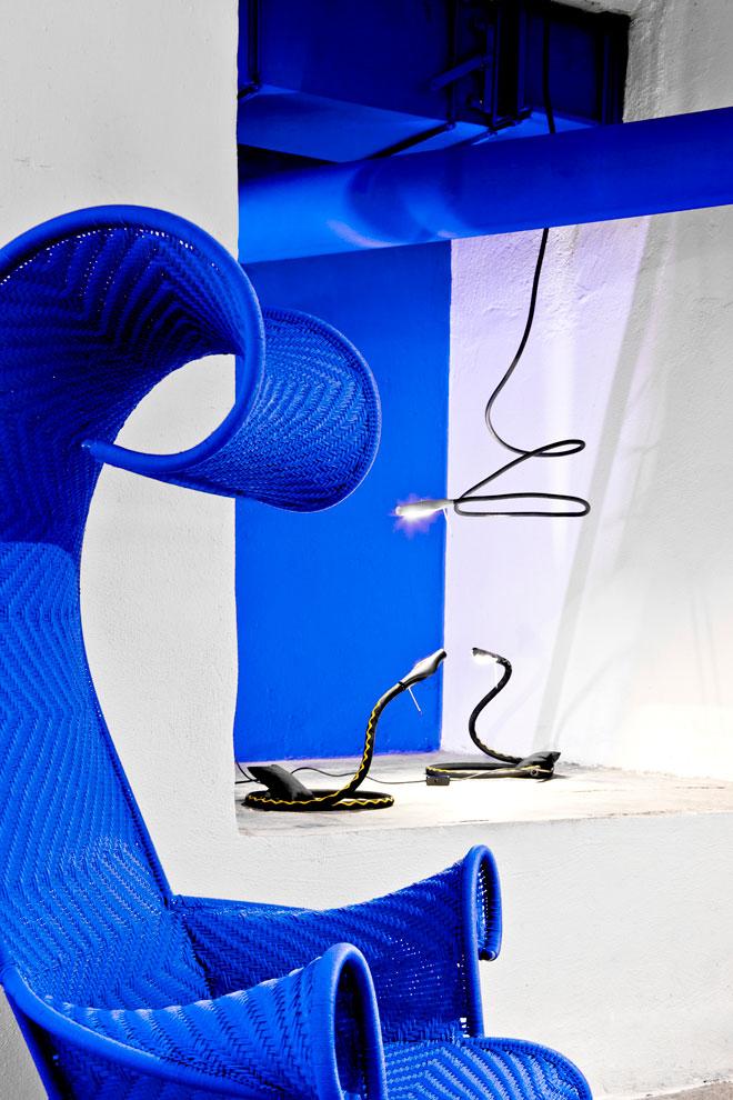 מורוסו פוגשת את גופי התאורה של אינגו מאורר (צילום: Copyright Ingo Maurer GmbH)