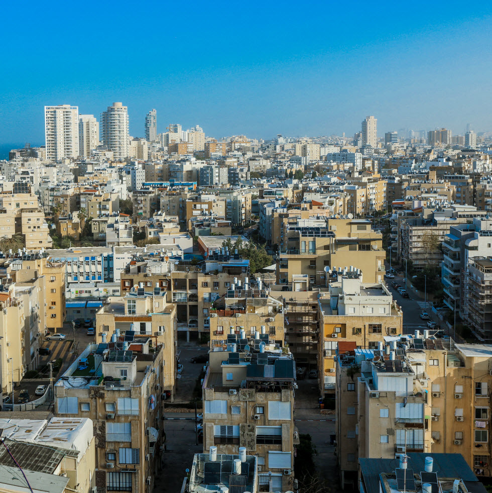 Israel's crowded center (Photo: Shutterstock)