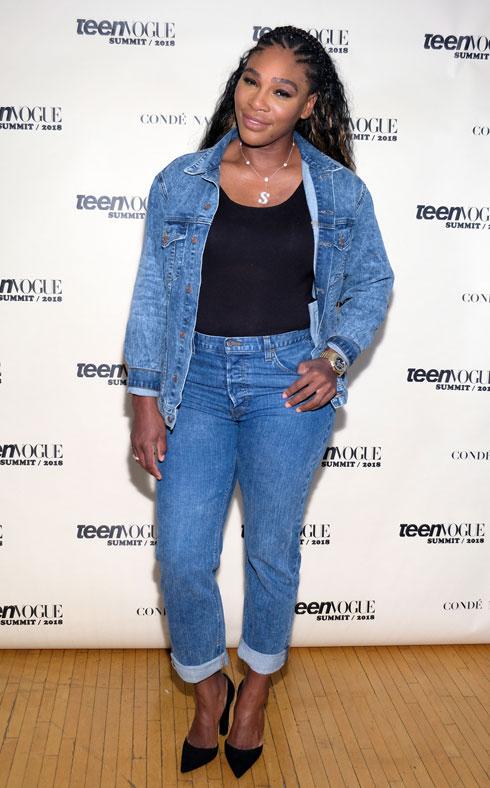 ג'ינס עם ג'ינס. סרינה וויליאמס (צילום: Sarah Morris/GettyimagesIL)