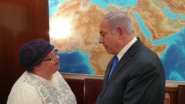 Asna Haberman, Zachary's sister, meeting with Prime Minister Benjamin Netanyahu after the remains were identified