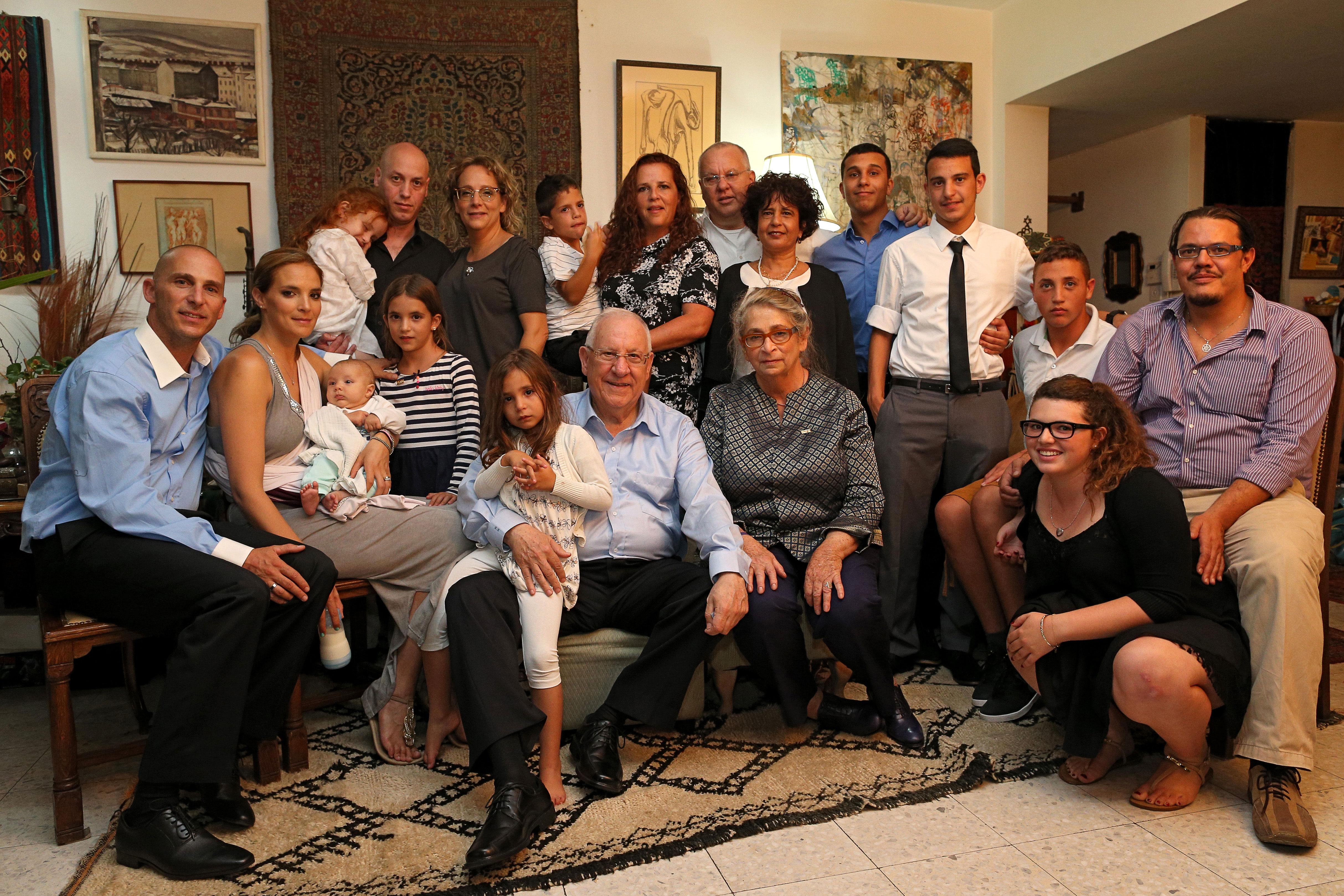 Большая семья Ривлин, 2014 год. Фото: Амит Шааби