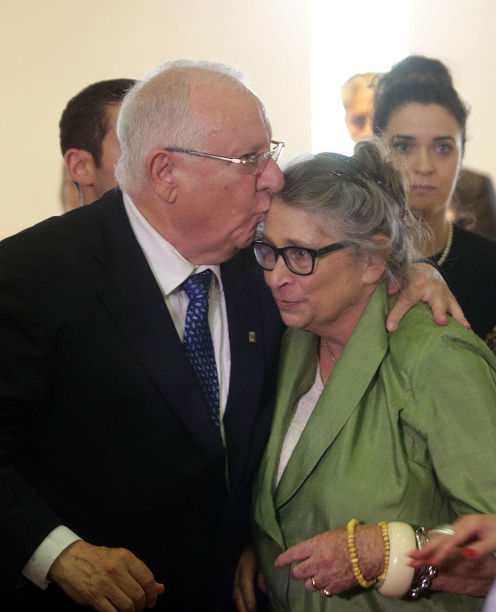 Супруги Ривлин во время известия об избрании Реувена Ривлина президентом Израиля. Фото: Алекс Коломойский