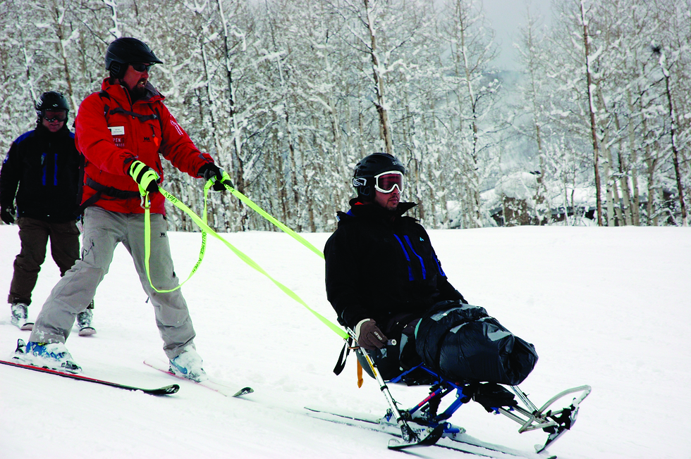 IDF Soldier who lost his leg on leisure provided by Chabad (Photo: Challenge Aspen)