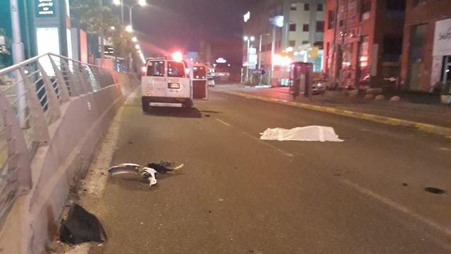 זירת התאונה בחיפה ()