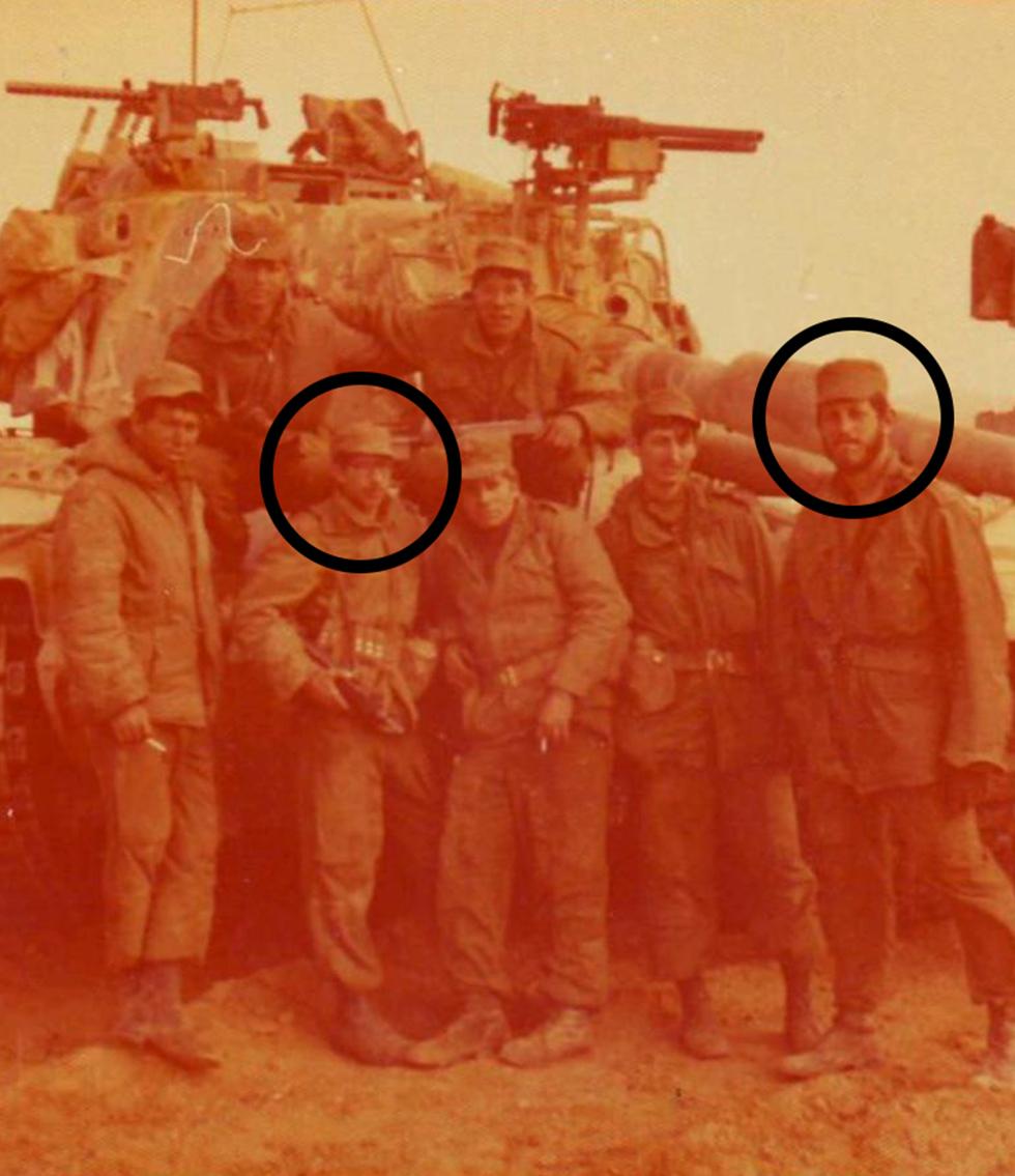 אבי רט (ראשון מימין) וזכריה באומל (שני משמאל) ()
