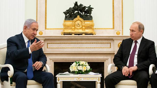 Benjamin Netanyahu rencontre Vladimir Poutine à Moscou plus tôt cette année (Photo: AP)