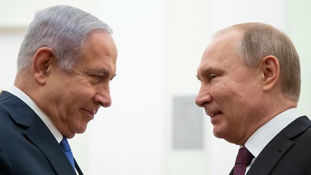 ראש הממשלה בנימין נתניהו פגישה עם נשיא רוסיה ולדימיר פוטין ב מוסקבה (צילום: EPA)