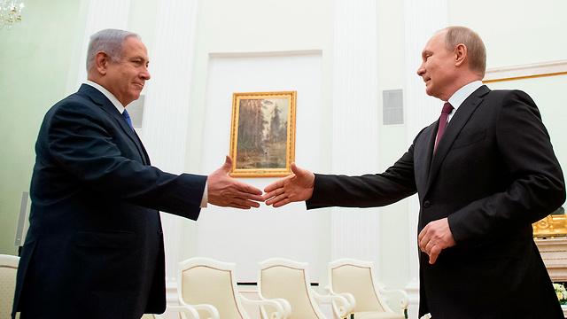 Нетаниягу и Путин в Кремле, апрель 2019 года. Фото: AFP