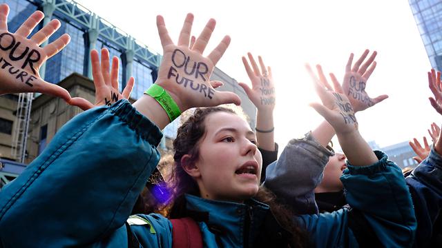 הפגנה של סטודנטים בבלגיה (צילום: shutterstock)