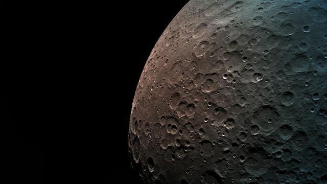 """Снимок Луны, сделанный модулем """"Берешит"""". Фото: SpaceIL и """"Авиационная промышленность"""""""