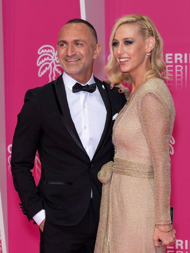 הכי הוליווד שיש. שלום מיכאלשווילי ואשתו ענבל שלוי (צילום: Arnold Jerocki)